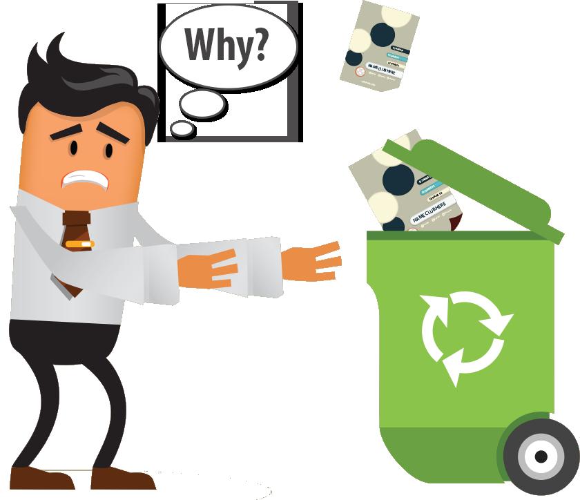Flyer Distribution - Flyer on trash bin